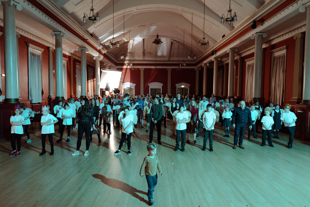 Filming for Heartbeat Ballroom by Katie Doherty at the Wallsend MEM
