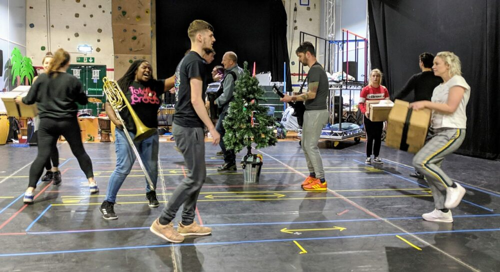 Rehearsals at Northern Stage for this year's Christmas show, A Christmas Carol