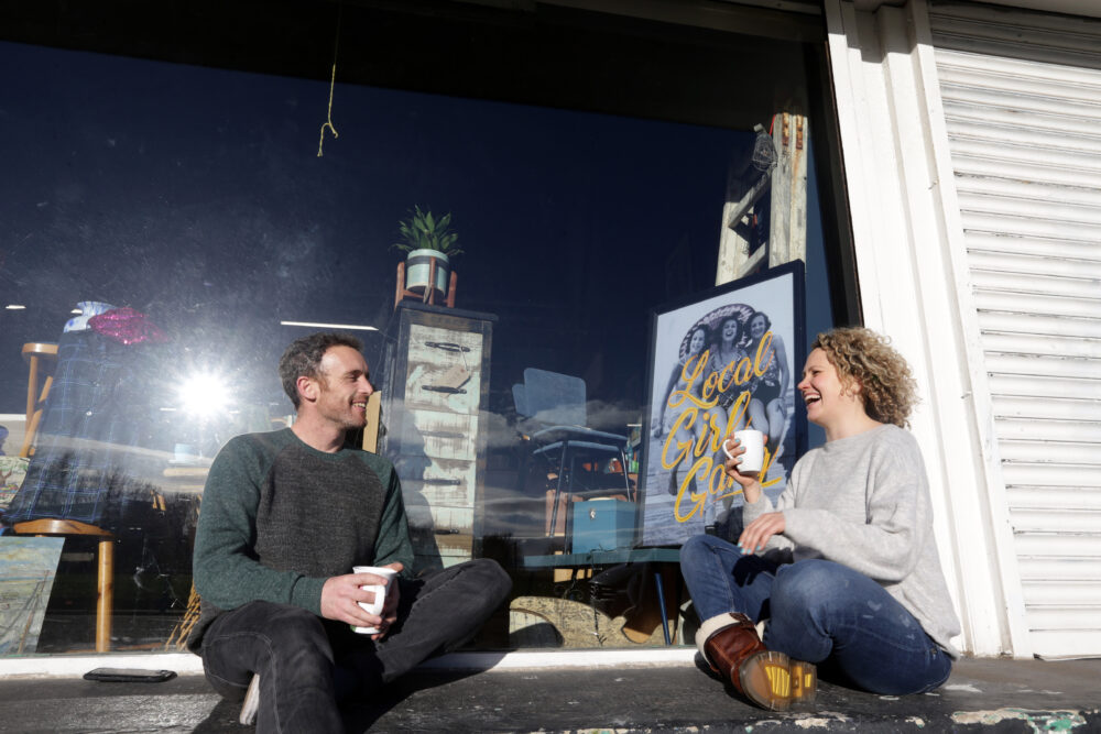 Jessica Penrose and Jim Gregory (pictured) have opened a Flea Circus in Shieldfield, Newcastle. The Flea Circus is a new co-operative shopping venture boasting more than 25 independent sellers under one roof.