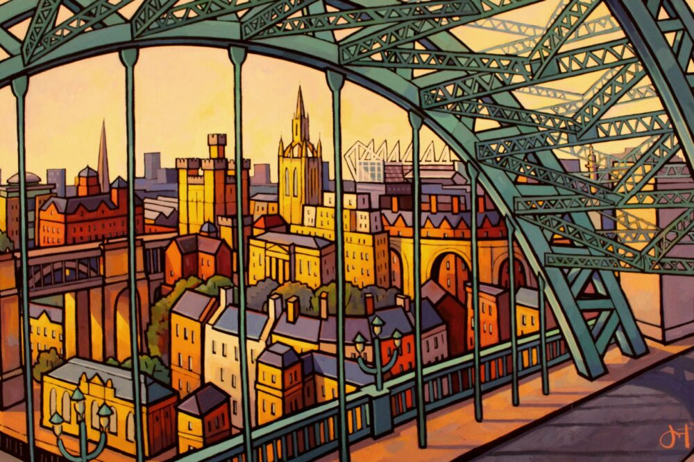 Artist Jim Edwards is taking part in the pre-Christmas Ouseburn Open Studios