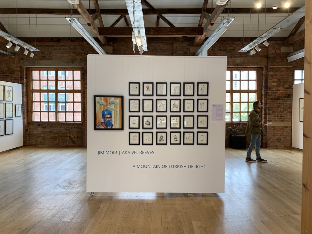 Jim Moir aka Vic Reeves exhibition at the Biscuit Factory in Newcastle