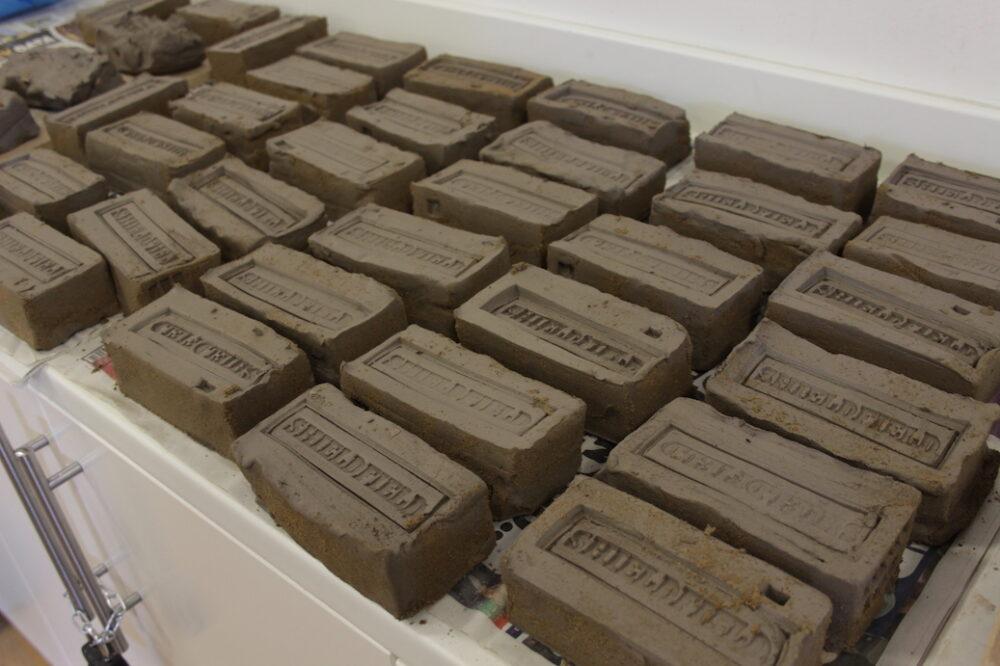 Bricks installation at Shieldfield Art Works