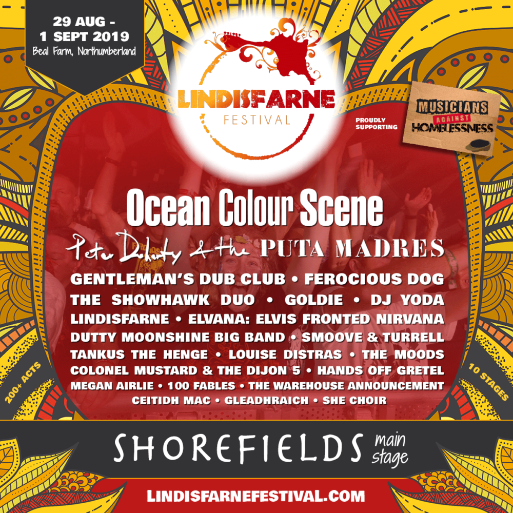Just a small slice of what's on offer at this year's Lindisfarne Festival in Northumberland