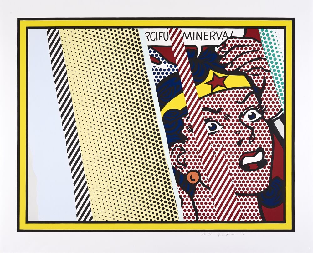 Reflections on Minerva, 1990 by Roy Lichtenstein