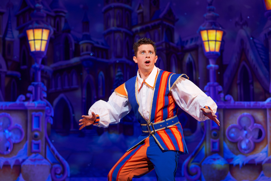 Danny Adams in Beauty and the Beast at Newcastle Theatre Royal. Photo credit: Paul Coltas