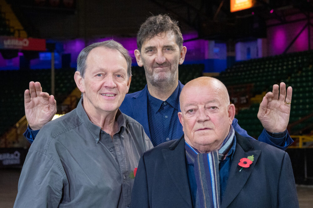 Jimmy Nail, Tim Healy, Kevin Whately at Utilitia Arena Newcastle
