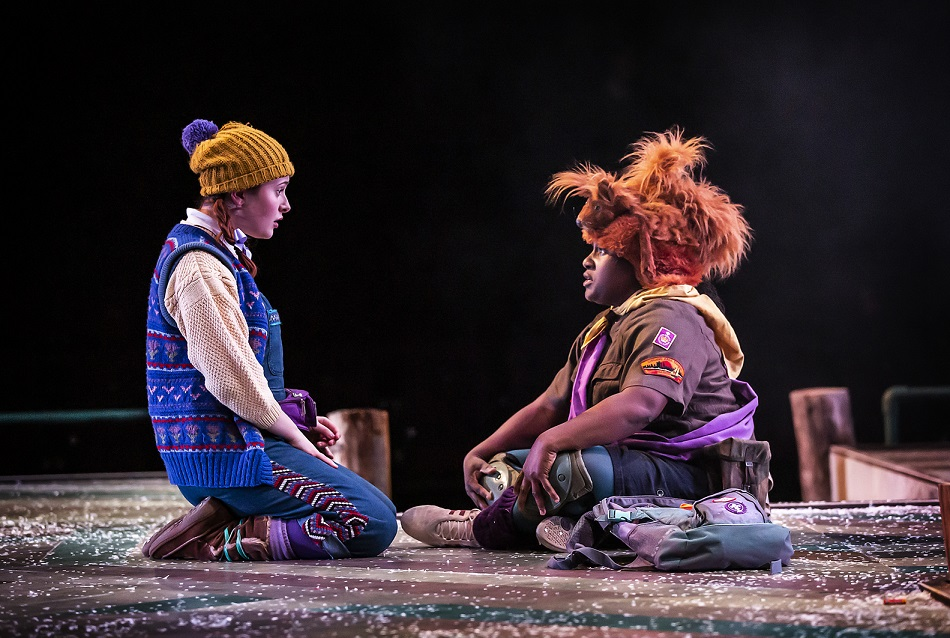 Lauren Waine and Hannabiel Sanders in the Snow Queen at Northern Stage. Photo: Pamela Raith Photography