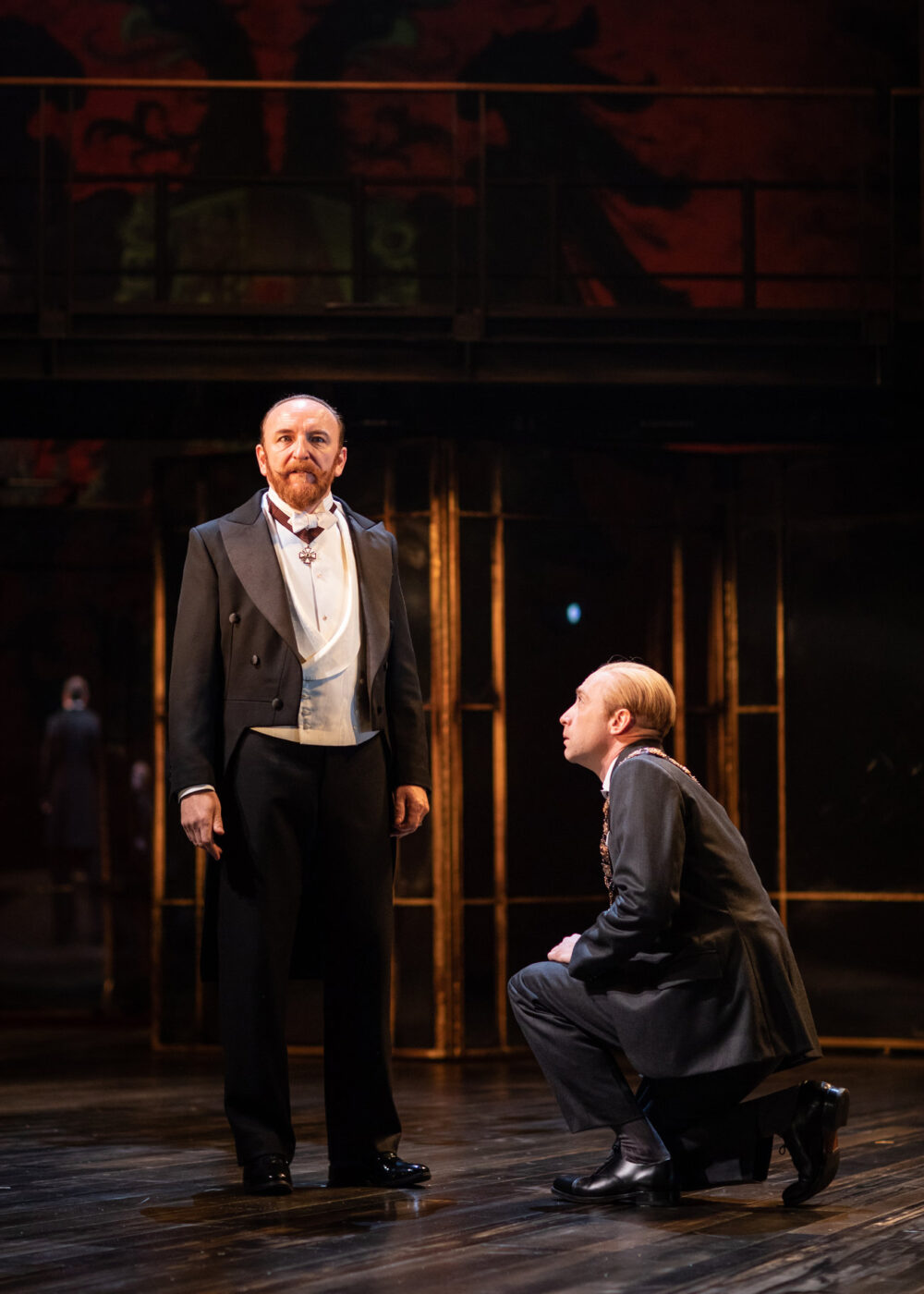 Antony Byrne (Duke) and Sandy Grierson (Angelo), Measure for Measure. Photo, Helen Maybanks
