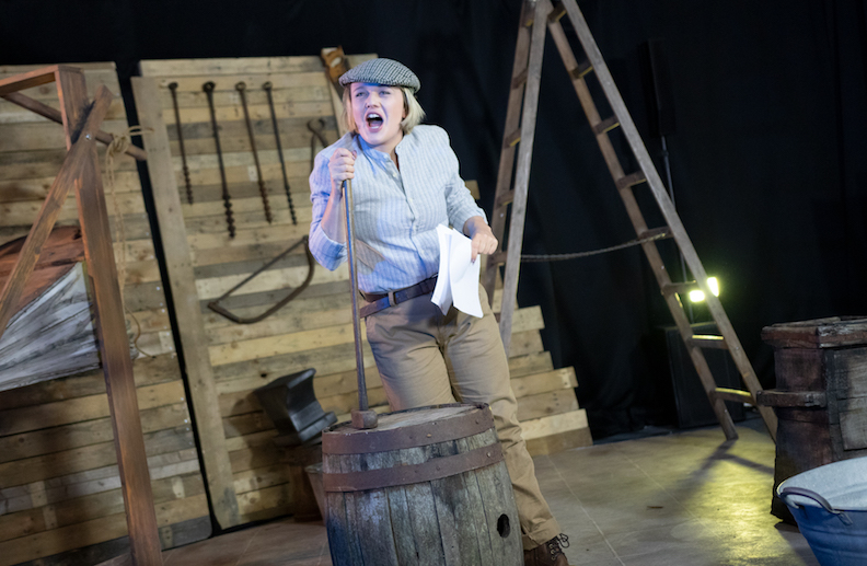 Jude Nelson plays Georgina Stephenson in Rocket Girl at Alphabetti Theatre in Newcastle