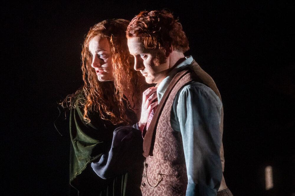 Eleanor Dennis and Nicholas Watts in The Turn of the Screw. Photo, Tristram Kenton