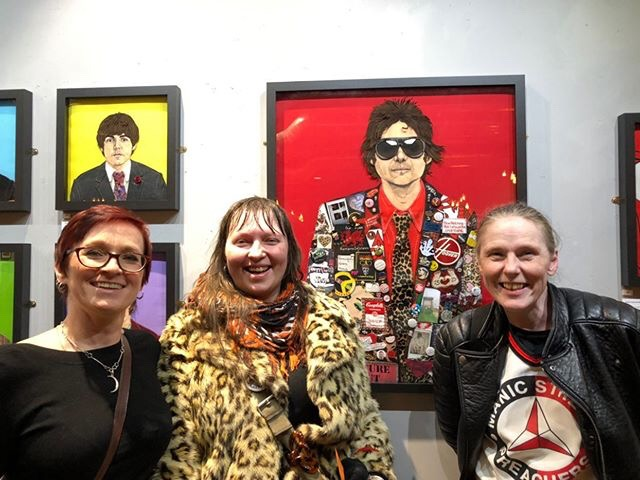Jane, left, with Manic Street Preachers fans Beata and Kim at the People's Theatre. Photo by David Hall